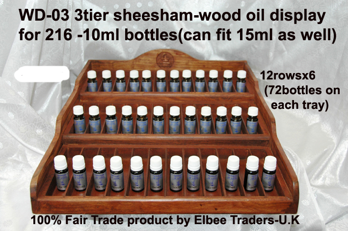WD-03 -Wooden Oil Rack 3-tier216 oils-£45