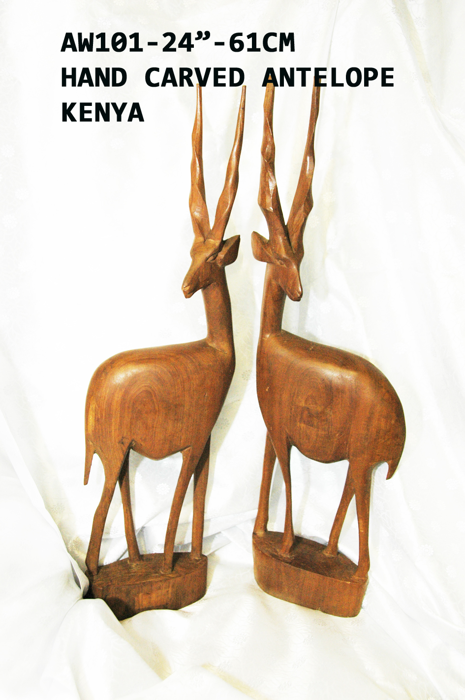 "AW-101-24"" Hand Carved Wooden Antelope 24inches(H) £22"