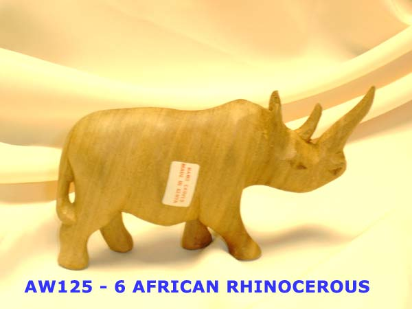 AW125-8 AFRICAN RHINO-carved-£3.25