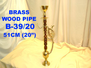 "B-39/36 BRASS WOOD PIPE - 36""-£18.50"