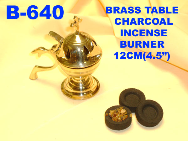 B-640 BRASS TABLE CHARCOAL INCENSE BURNER- £5.35offer- £4.99