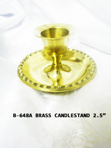 B-648A BRASS CANDLEHOLDER-ONLY-normal- £1.65 each