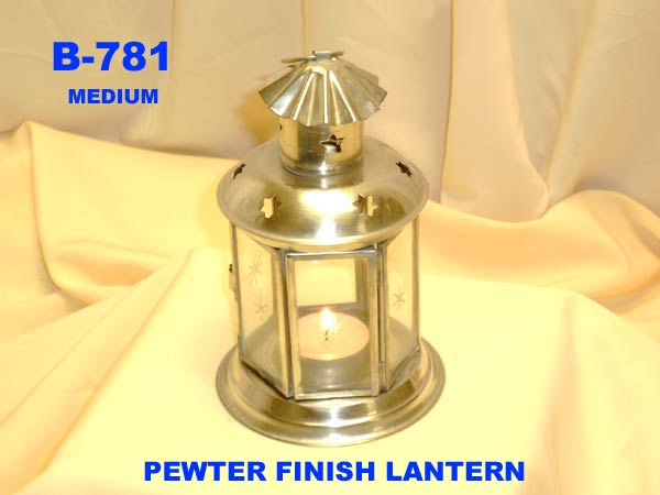 B-781 PEWTER FINISH LANTERN-£2.85