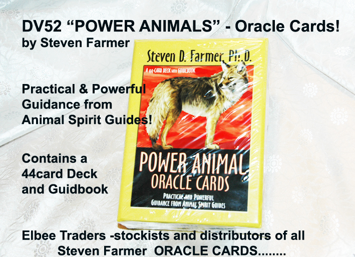 "DV52 THE FAMOUS"" POWER ANIMALS ORACLE CARDS-STEVEN FARMER £7.25"