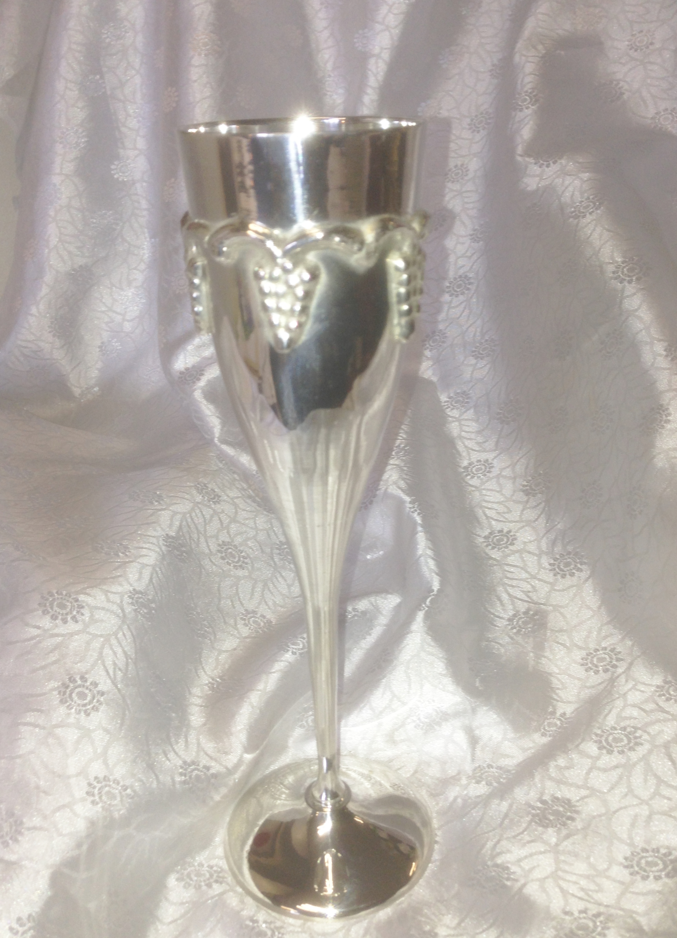 "EP-66 SILVER PLATED PAGAN-TULIP CHALICE-7""-£9.95"