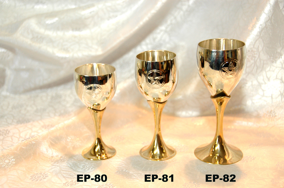 "EP-80 SILVER PLATED PAGAN~PENTACLE GOBLET-£3.75 EACH-3""-£2.99"