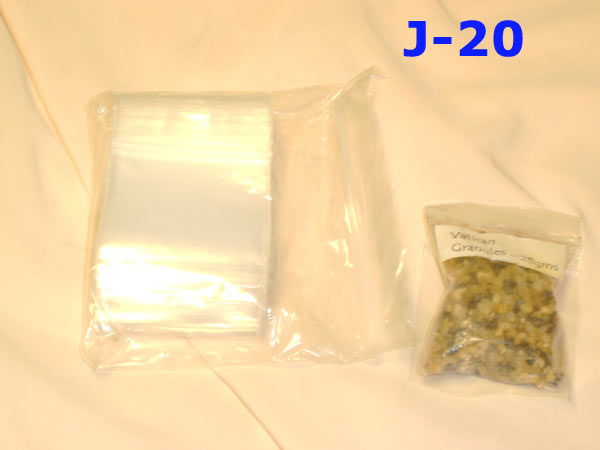 L-01 60X60MM- 100 SELF-SEAL BAGS  FOR GRANUELS (SMALL) 85P