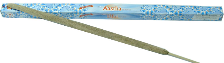 J-77 AASTHA-8hour BURNING INCENSE-50GRAMS SINGLE STICK-70p-£8.40