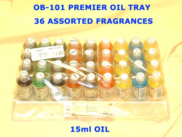 OB-101 ANGELS PREMIER OIL TRAY 15ml ASSORTED FRAGRANCES-£12.00 T
