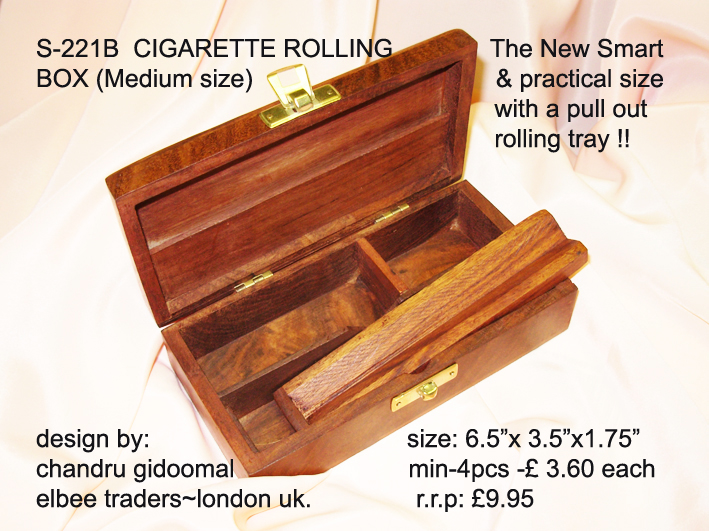 S-220B CIGARETTE ROLLING BOX-with AMSTERDAM on top! £3.99!