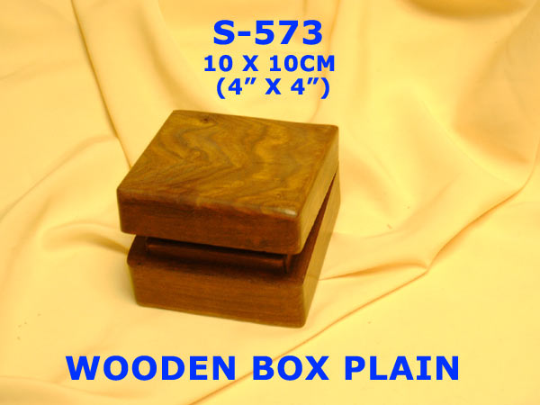 "S-572 WOODEN BOX PLAIN (4""x2""x2"")£1.99"