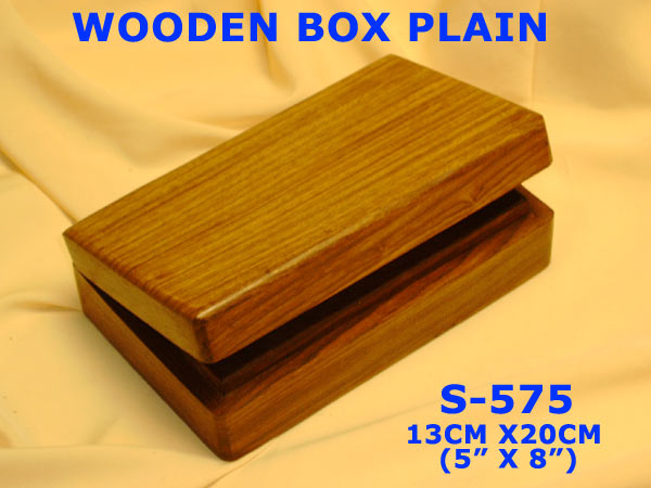 "S-575 WOODEN BRASS PLAIN (5"" X 7"")- £4.75"