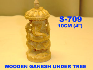 "S-709 WOODEN HAND CARVED GANESH (4"") £3.99"