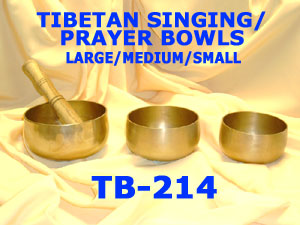 "TB-214/2TIBETAN SINGING AND PRAYER BOWL-MED-5.75""£29"